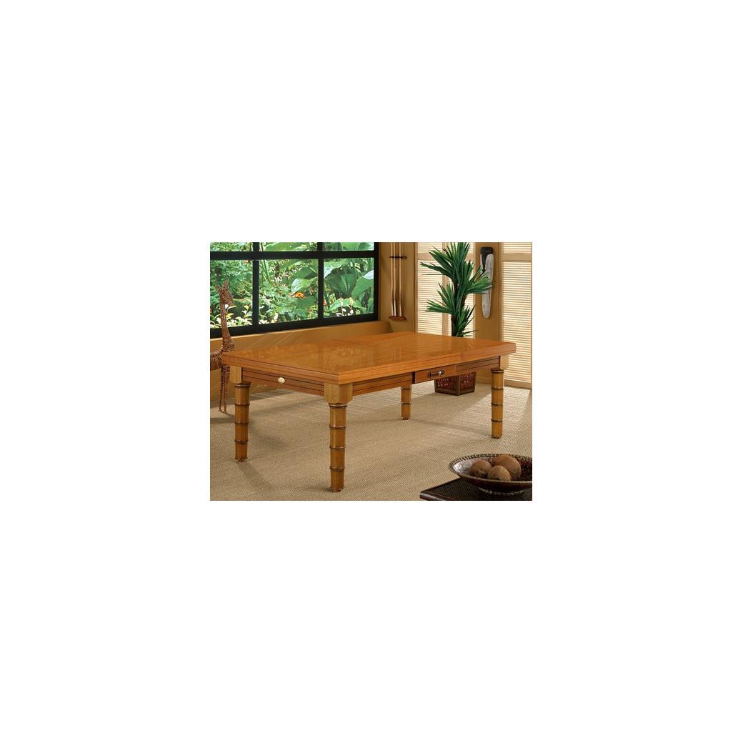 Table billard convertible, du 2 en 1 avec le plateau billard bois merisier