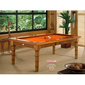 Billard americain table a manger (8 pool ou fr) en orange feu