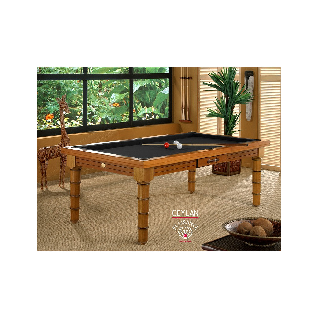 Table de billard transformable en table de salle a manger (noir)