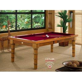 Jouer au billard, de chez vous, avec ce superbe billard table et son tapis bordeaux