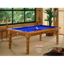 8 pool, pour ce billard anglais et son tapis bleu pool haut de gamme Simonis