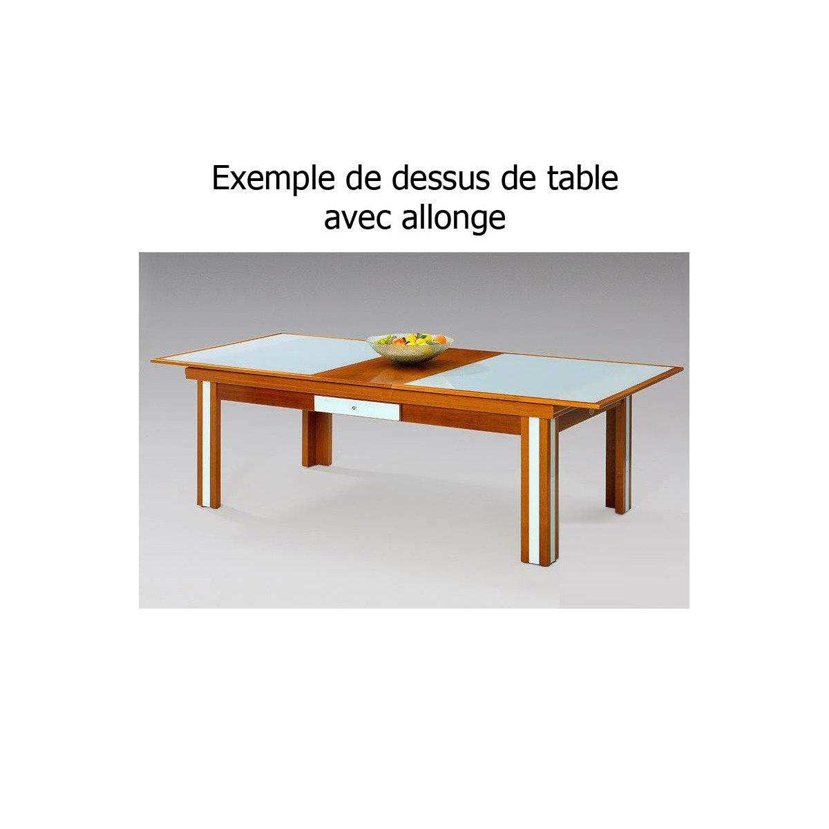 Plateau billard en bois avec carr couleur alluminium pour for Table qui s allonge
