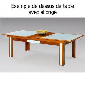 Billard : exemple avec le plateau billard avec rallonges pour table convertible