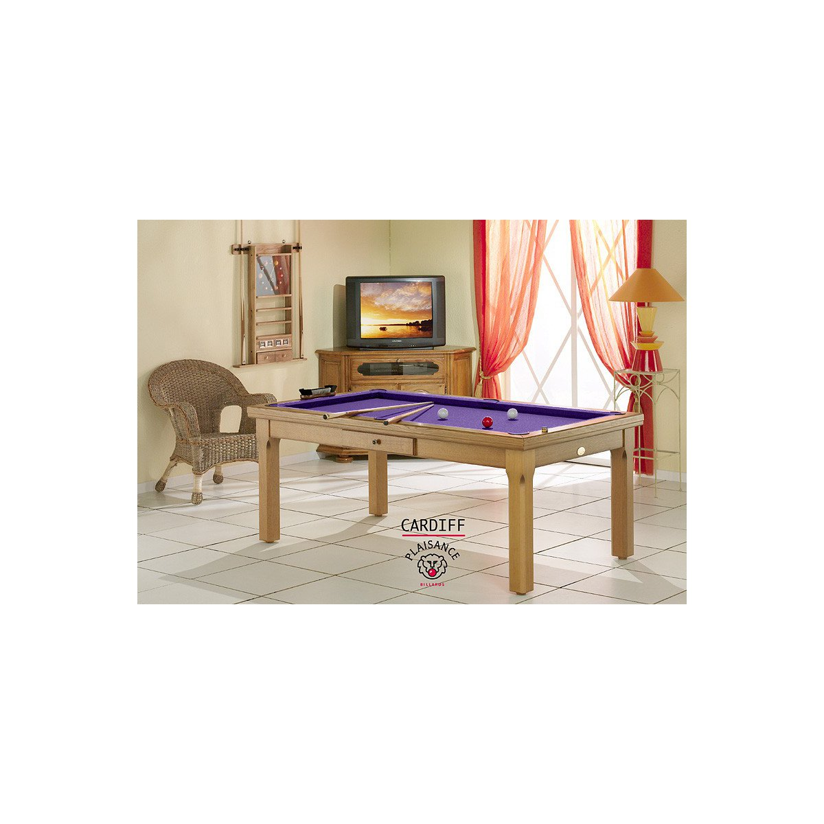 billard (cardiff) : table de billard convertible