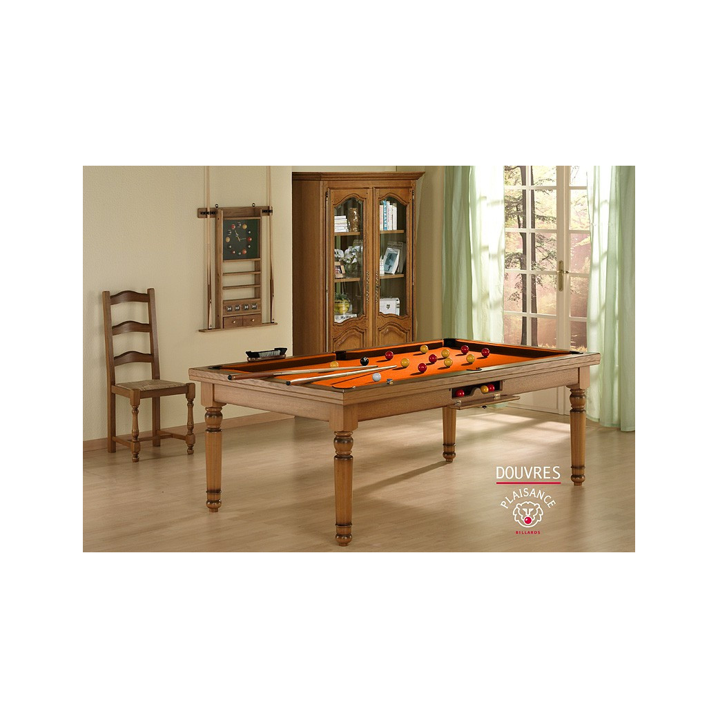 Billard 2 en 1 : table billard convertible en table pour manger