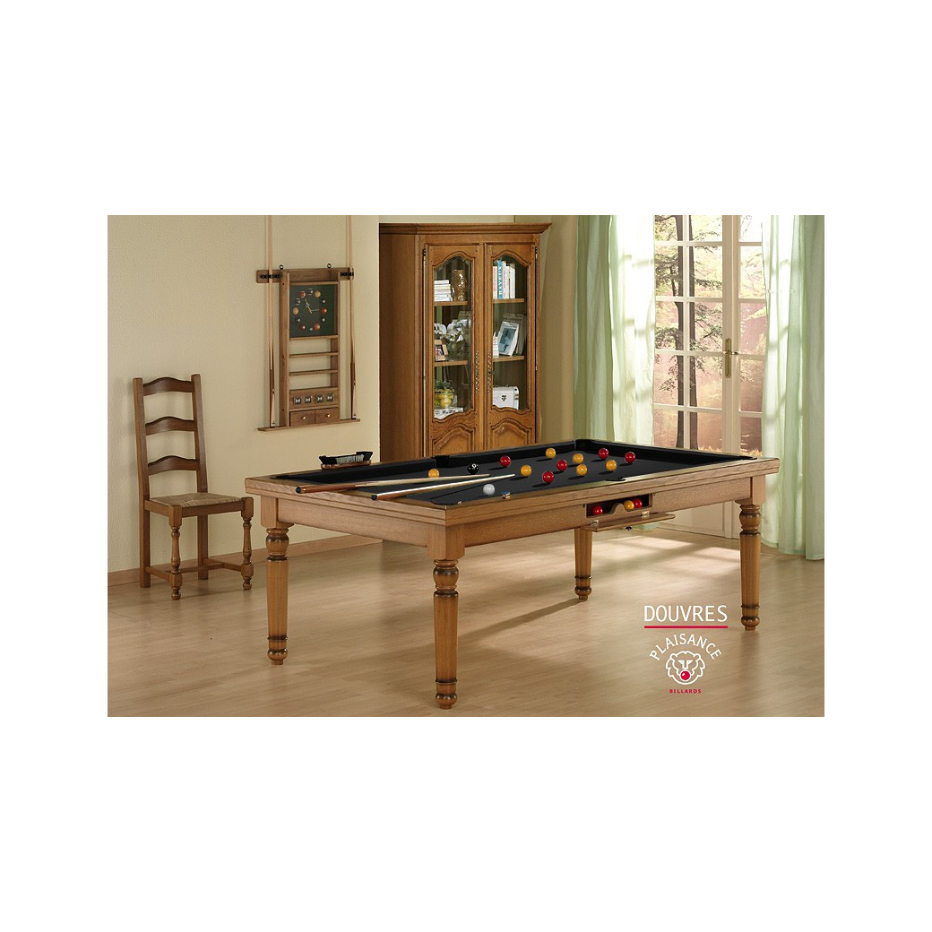 Billard noir : Billard transformable en table dinatoire