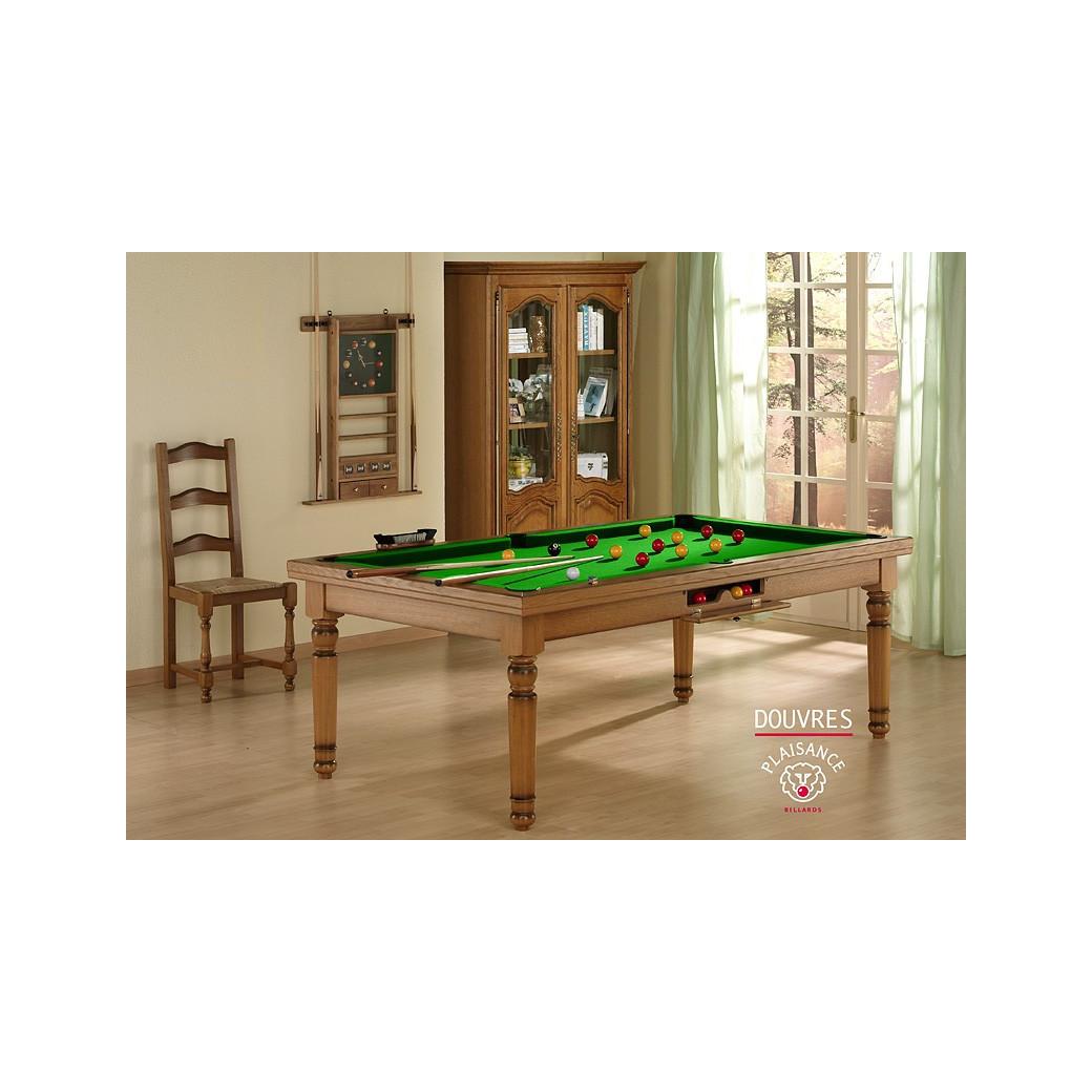 Billard vert : jeu de billard francais, avec tapis vert pomme