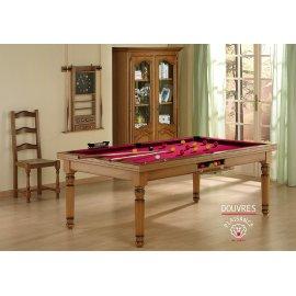 Billard rouge : jeu de billard pool et son tapis rouge