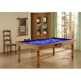Billard bleu : convertible en table