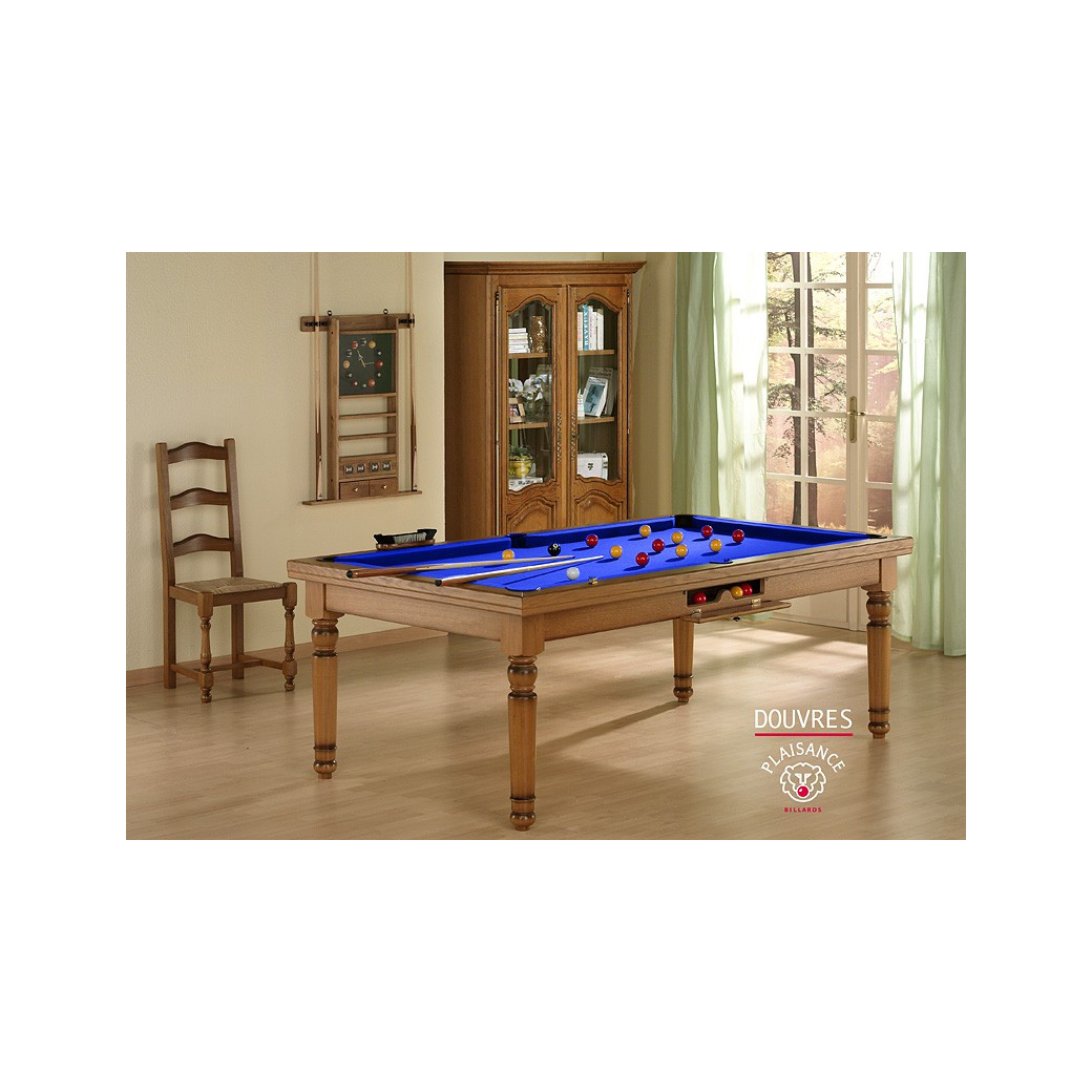 Billard bleu : convertible en table