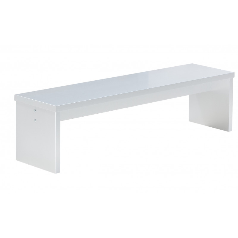 Banc Laqué Blanc Pour Table Billard Transformable