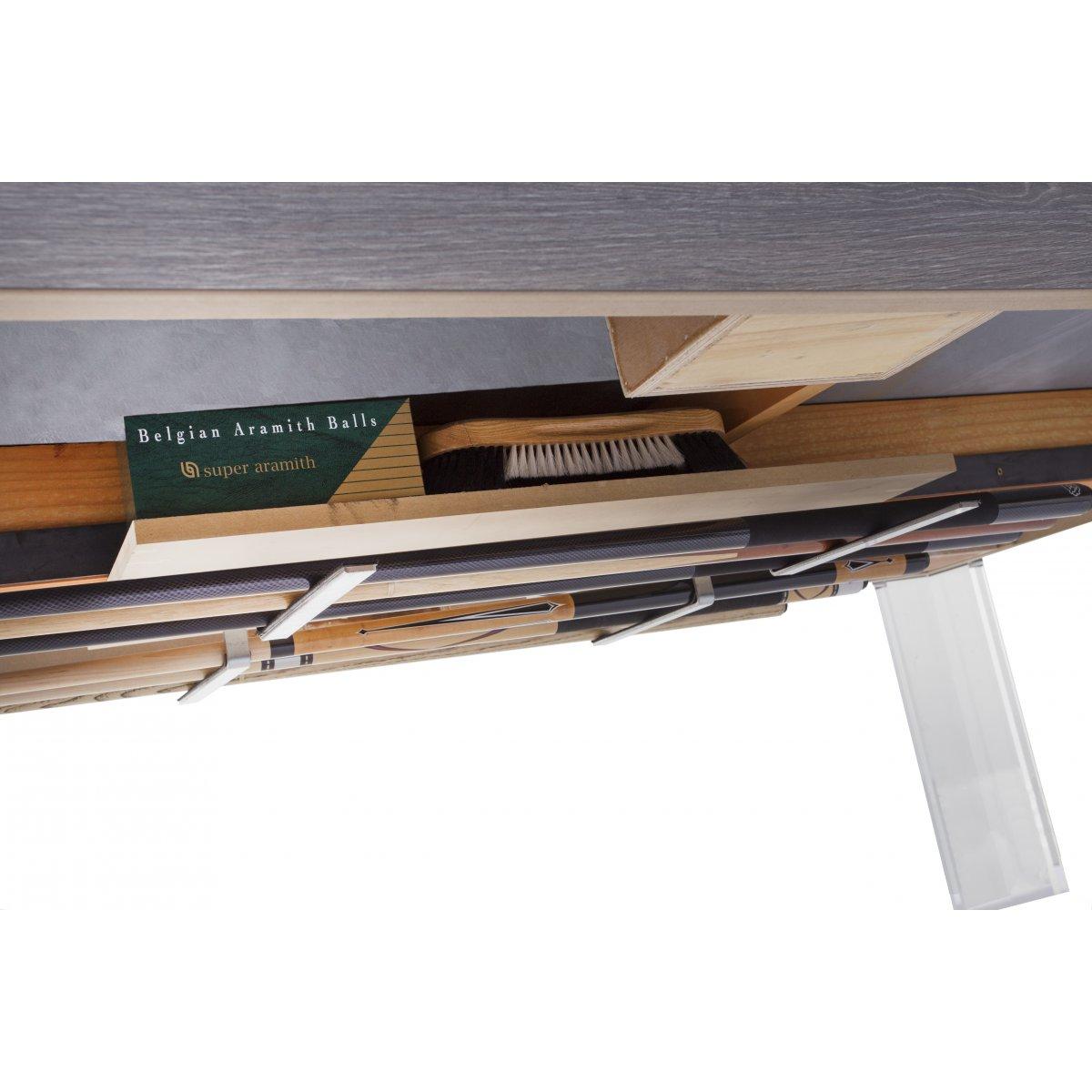 Rangement des accessoires sous la table de billard r f rence for Porte queue billard moderne