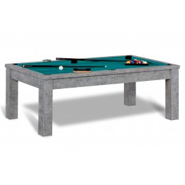Billard et table (tapis vert bleu)