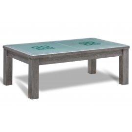 Billard en verre (dessus de table en verre)