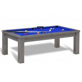 Billards anglais et tapis bleu pool