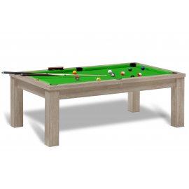 Table billard design (tapis vert pomme)