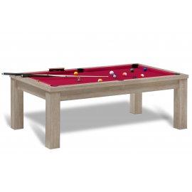 Table transformable billard (tapis rouge)