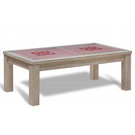 Billard et table salle à manger (plateau verre)