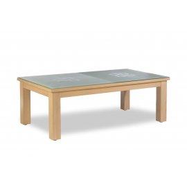 Table a manger billard, et son le dessus table en verre