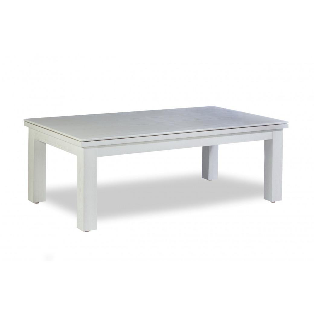 Billard convertible table a manger, table billard blanche