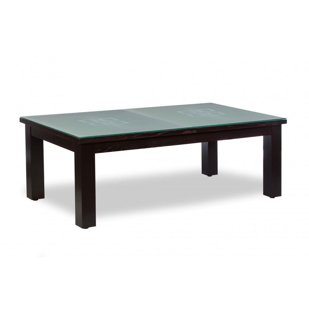Table de billard convertible, avec dessus de table 100% verre