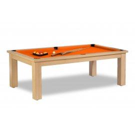 table billard convertible, drap billard couleur orange lumineux