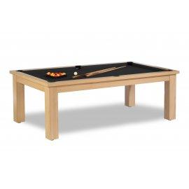 table billard, plateau de jeu noir intense