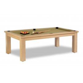 Billard table convertible, tapis de jeu de billard gold (couleur or)