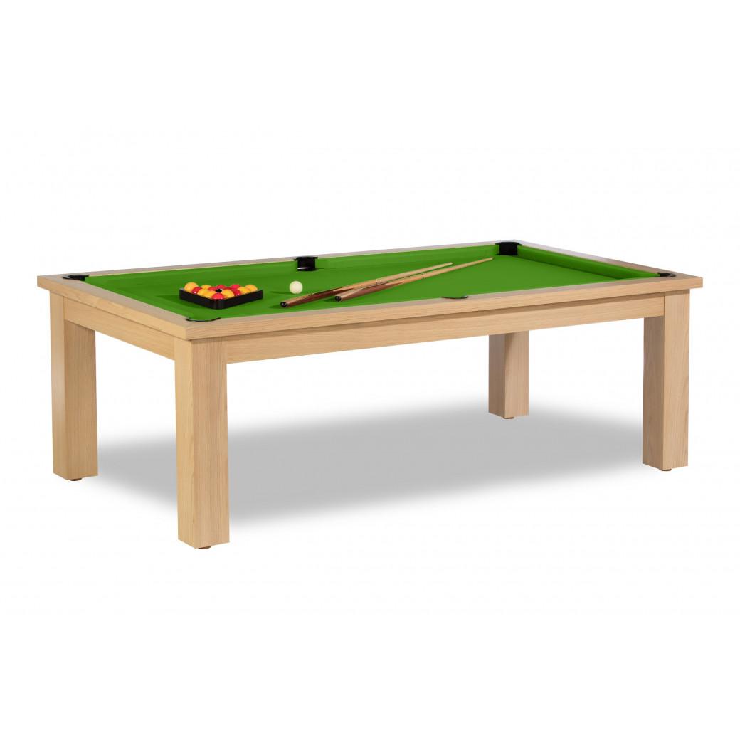 Table convertible billard, en vert pool classique