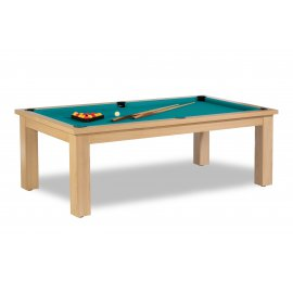 Billard convertible table, et son sublime tapis vert bleu