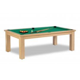 Table billard transformable, avec drap Simonis vert jaune