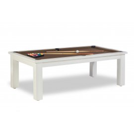 Table billard transformable, et tapis billard couleur chocolat au lait
