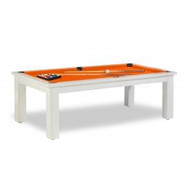 Billard transformable, et tapis de jeu orange soleil