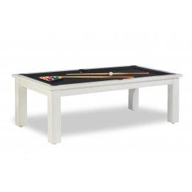 Billard transformable en table, avec drap noir