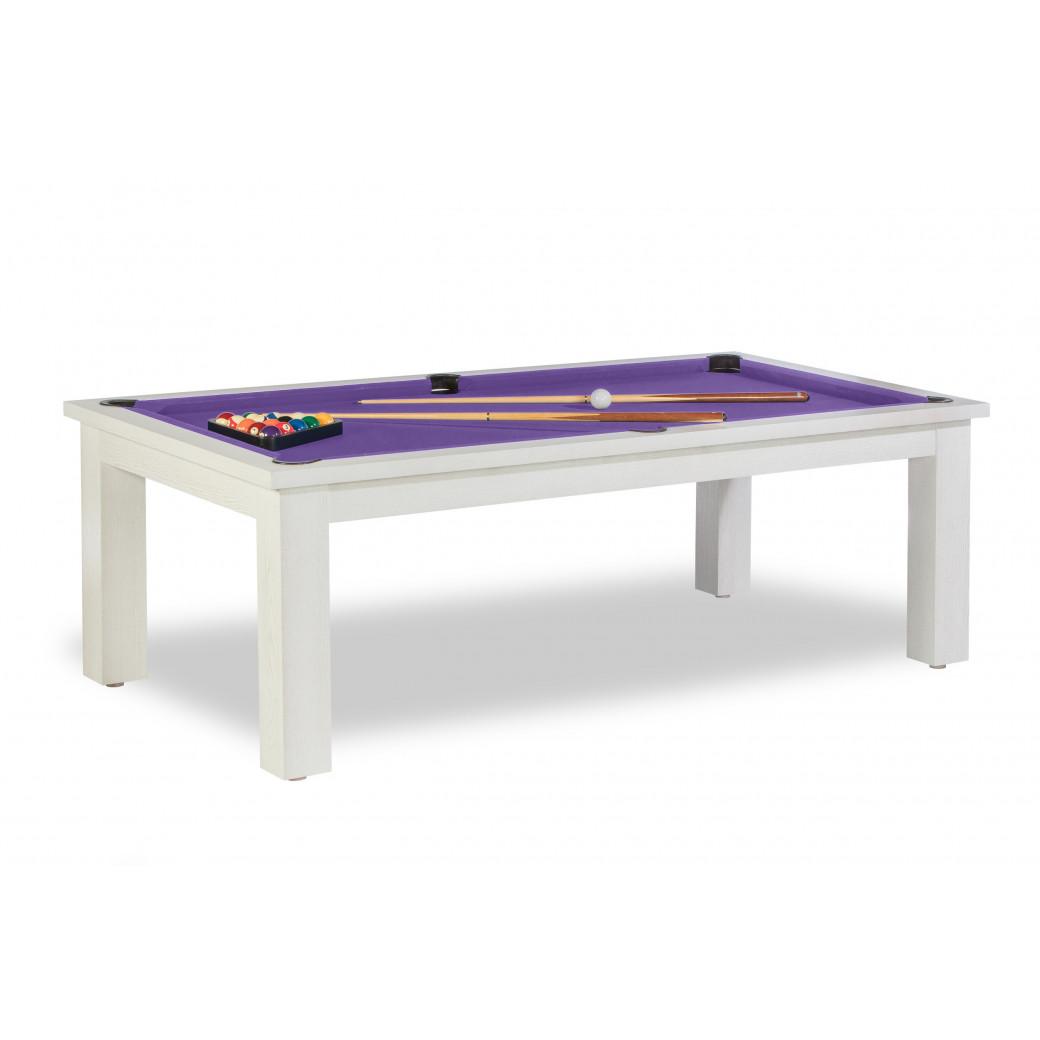 Billard table a manger, et son drap ywan simonis gris violet
