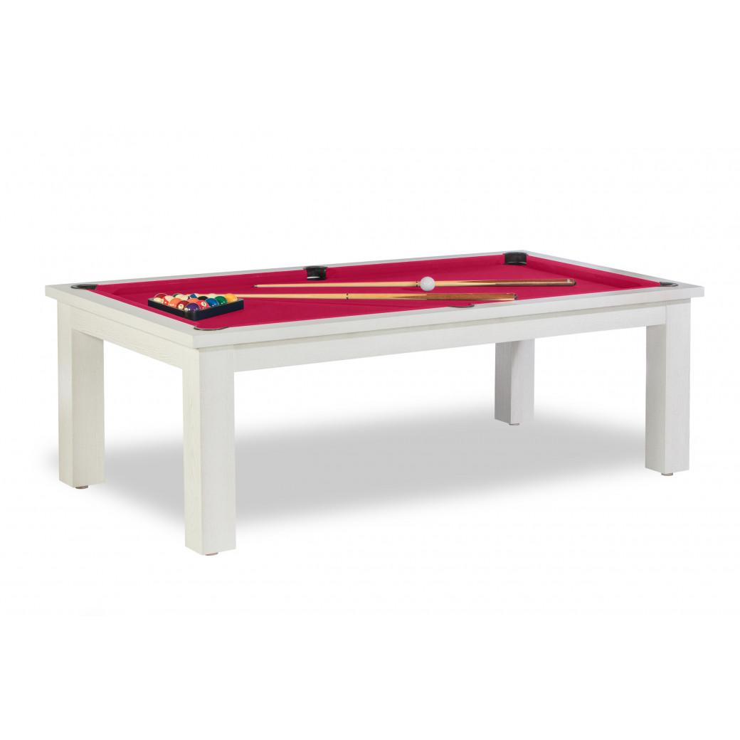 Tables de billard, et tapis ywan simonis couleur rouge