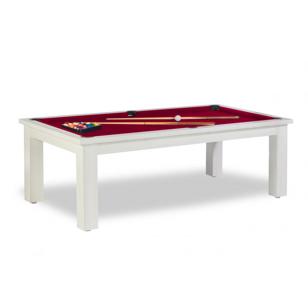 Billard bordeaux, et tapis de table bordeaux