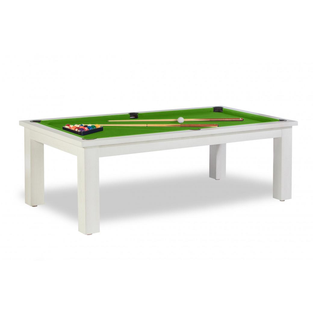 Billard americain transformable table, et son magnifique tapis vert pool