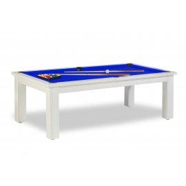 Table transformable billard, pour billard francais, americain et/ou pool avec tapis bleu pool