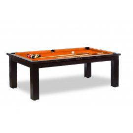 Billard modulable, avec son tapis de jeu de billard de couleur orange