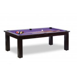 Table de billard convertible table a manger (violet)