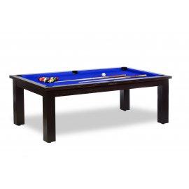 Table a manger billard design, tapis de qualité bleu pool