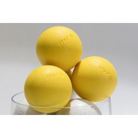 1 balle de compétition en plastique composite jaune