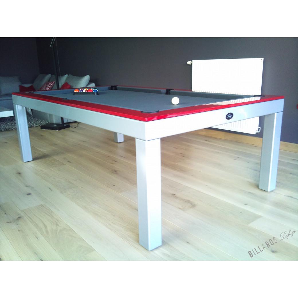 Billard table : acier laqué en gris