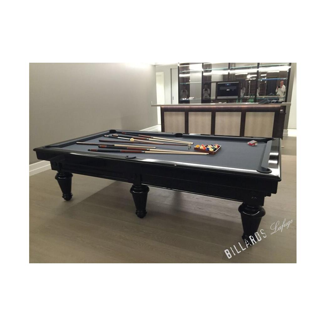 Billard noir en 2m80 transformable en table à manger