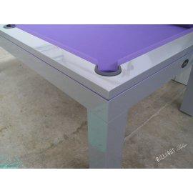 Billard reversible : table américaine avec tapis violet
