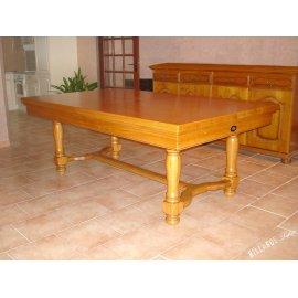 Table manger billard, en chêne doré avec plateau table