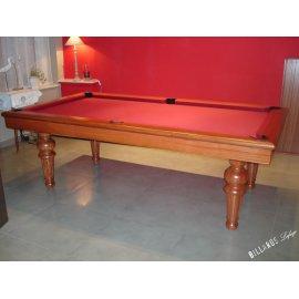Billard rouge de marque Lafuge, un billard de luxe par excellence