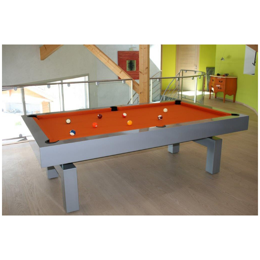 Billard americain, table de jeu orange