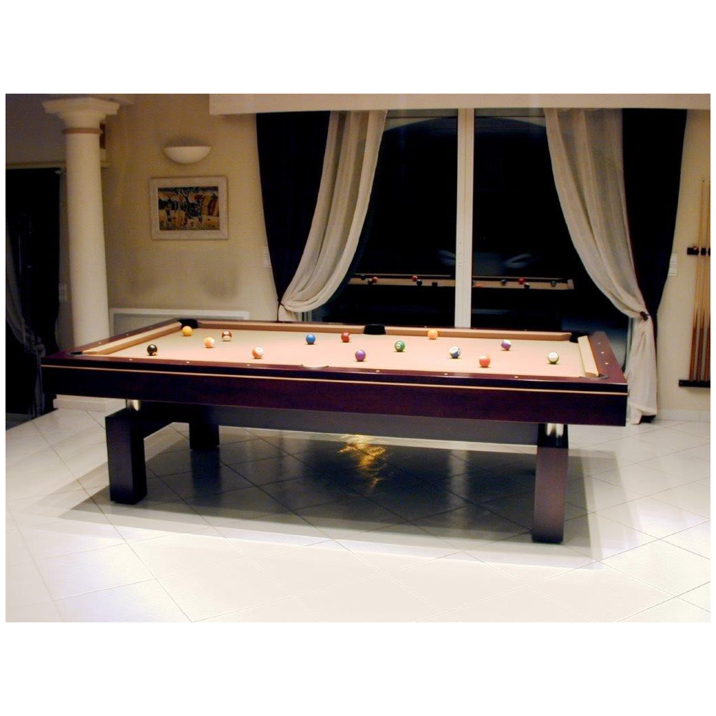Table de billard americaine, drap couleur chocolat